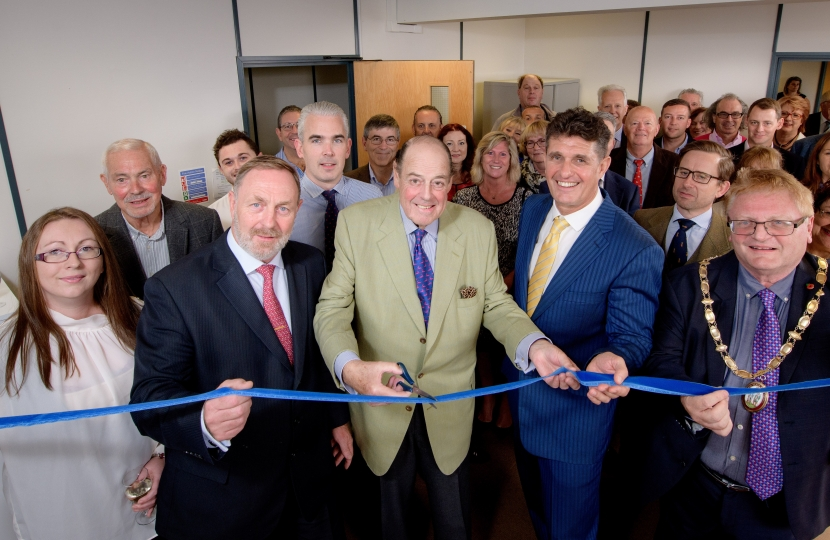 Sir Nicholas Soames MP opening Mike Oliver Associates new premises.