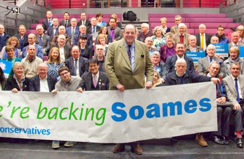 We're backing Soames!