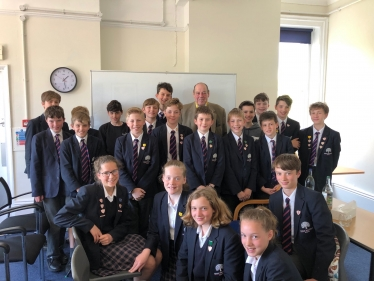 Sir Nicholas visits Great Walstead School